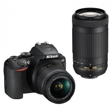 Nikon D3500 + AF-P 18-55 VR + AF-P 70-300 g ed + GARANZIA 2 ANNI ASSISTENZA IN ITALIA +