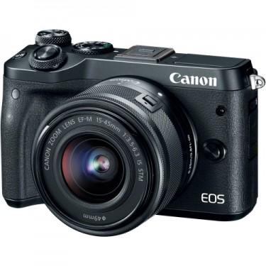 Canon EOS M6 + 15-45 Black kitbox  + GARANZIA 2 ANNI ASSISTENZA IN ITALIA +