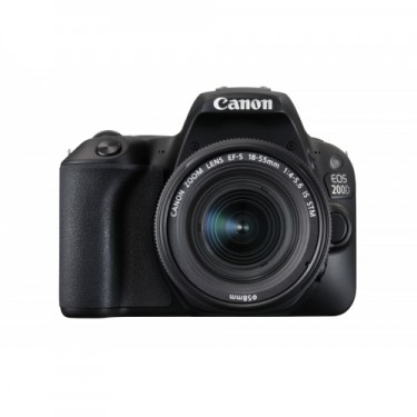 Canon EOS 200D + EF-S 18-55mm f3.5-5.6 IS STM Bulk Black  + GARANZIA 2 ANNI ASSISTENZA IN ITALIA +