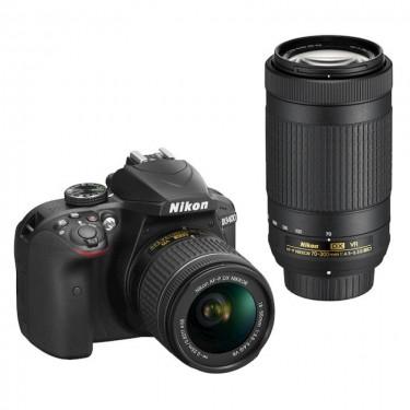 Nikon D3400 + AF-P 18-55 + AF-P 70-300 + GARANZIA 2 ANNI ASSISTENZA IN ITALIA +