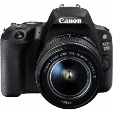 Canon Fotocamera Canon EOS 200D + EF-S 18-55mm f/3.5-5.6 III  + GARANZIA 2 ANNI ASSISTENZA IN ITALIA +