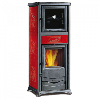 Stufa ROSSELLA PLUS FORNO EVO Bordeaux Liberty 7112380