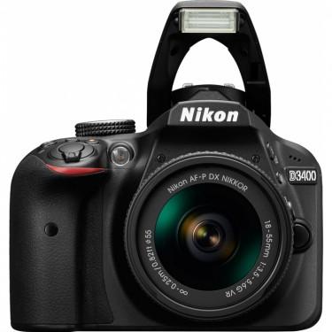 Nikon D3400 + AF-P 18-55 VR Black + GARANZIA 2 ANNI ASSISTENZA IN ITALIA +